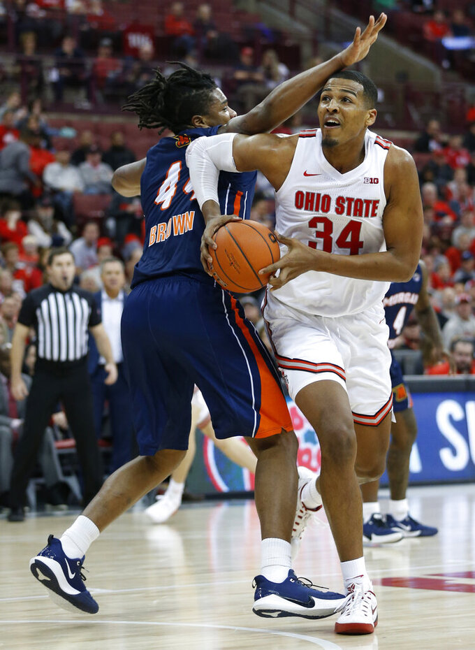 Wesson's perfection leads Ohio State over Morgan State 90-57