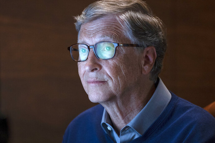 This image released by Netflix shows billionaire philanthropist Bill Gates in a scene from
