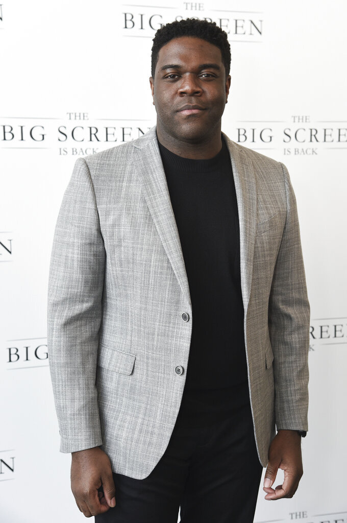 """Sam Richardson arrives at """"The Big Screen is Back"""" media event, including 10 studios convening to showcase a sampling of their summer movie releases, on Wednesday, May 19, 2021, at AMC Century City 15 in Los Angeles. (Photo by Richard Shotwell/Invision/AP)"""