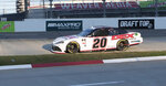 Harrison Burton drives on his way to winning a NASCAR Xfinity Series auto race at Martinsville Speedway in Martinsville, Va., Saturday, Oct. 31, 2020. (AP Photo/Lee Luther Jr.)