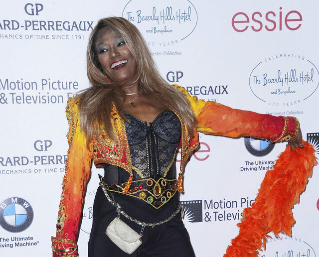 FILE - In this June 16, 2012 file photo, Bonnie Pointer attends the 100th Anniversary of The Beverly Hills Hotel in Beverly Hills, Calif. Pointer, founding member of the Pointer Sisters, has died. Publicist Roger Neal says Pointer died of cardiac arrest in Los Angeles on Monday. She was 69. (Photo by Katy Winn/Invision/AP, File)