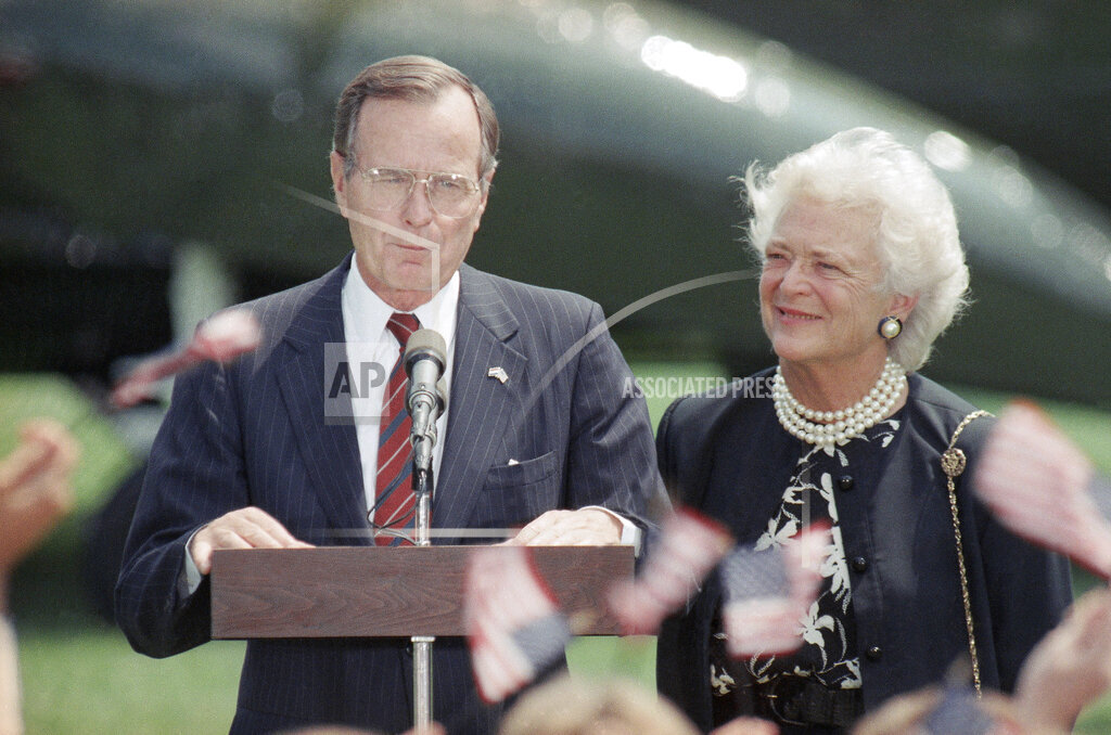 Watchf Associated Press Domestic News  Dist. of Col United States APHS160278 George H  W Bush 1989