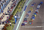 Cars get the green flag during a NASCAR Cup Series Championship auto race at Homestead-Miami Speedway, Sunday, Nov. 18, 2018, in Homestead, Fla. (AP Photo/Jim Topper)