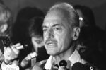 FILE - In this Thursday, July 16, 1981, file photo, Marvin Miller, executive director of the players association, speaks with newsmen at New York's Doral Inn after rejecting a new proposal attempting to end the 35-day-old Major League Baseball strike. The Baseball Hall of Fame will induct Miller on Wednesday, Sept. 8, 2021. (AP Photo/Howard, File)