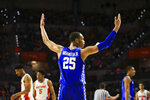 Kentucky forward PJ Washington celebrates against Florida during the second half of an NCAA college basketball game Saturday, Feb. 2, 2019, in Gainesville, Fla. Kentucky defeated Florida 65-54. (AP Photo/Matt Stamey)