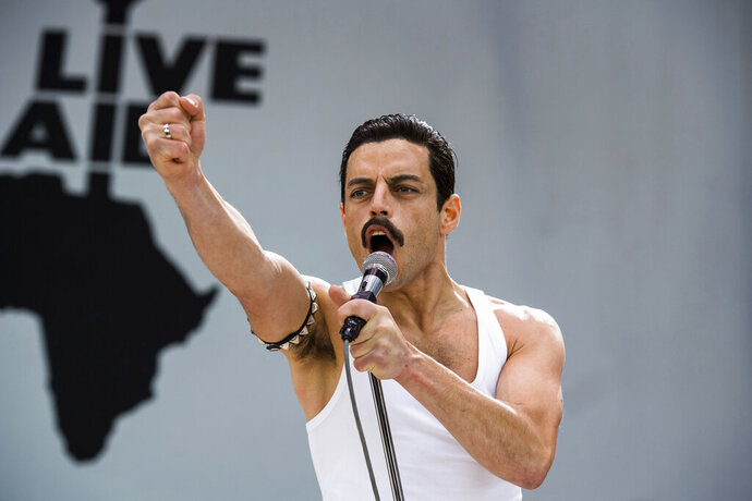This image released by Twentieth Century Fox shows Rami Malek in a scene from