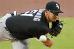 Chicago White Sox starting pitcher Dane Dunning delivers during the first inning of the team's baseball game against the Pittsburgh Pirates in Pittsburgh, Wednesday, Sept. 9, 2020. (AP Photo/Gene J. Puskar)