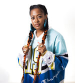 This Aug. 22, 2019 photo shows Rapsody posing for a portrait in New York to promote her latest album