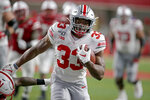 Ohio State running back Master Teague III (33) runs for a touchdown during the first half of an NCAA college football game against Nebraska in Lincoln, Neb., Saturday, Sept. 28, 2019. (AP Photo/Nati Harnik)