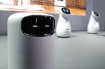 The Bot Air air filtering robot is on display in the Samsung booth at CES International, Tuesday, Jan. 8, 2019, in Las Vegas. (AP Photo/John Locher)