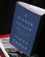 A copy of former FBI Director James Comey's new book,