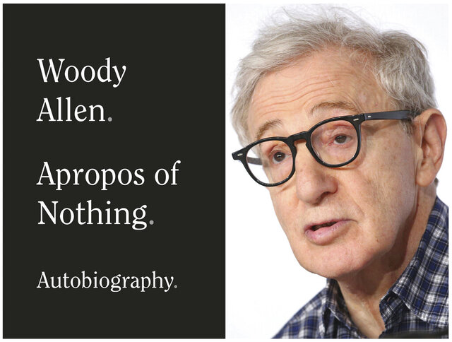 This combination photo shows a book cover image for