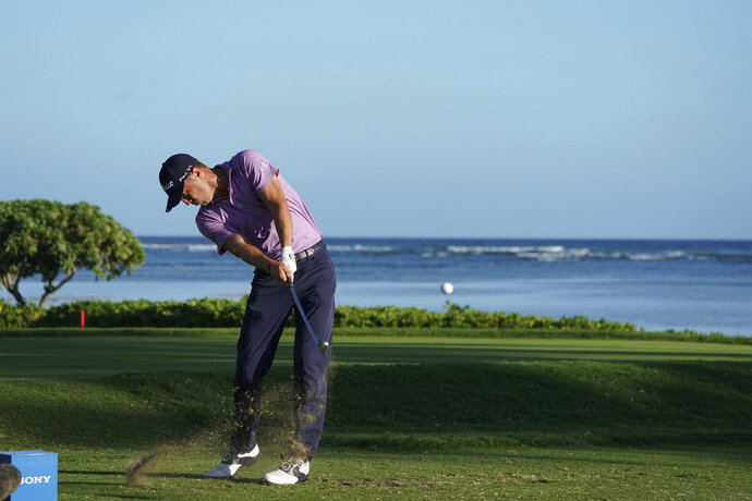 Justin Thomas drives from the 17th tee during the first round of the Sony Open golf tournament Thursday, Jan. 11, 2018, in Honolulu. (AP Photo/Marco Garcia)