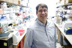 In this Tuesday, Jan. 23, 2018 photo,  James Riley, an HIV and gene therapy expert at the University of Pennsylvania, poses for a photograph in  Philadelphia. Gene therapy has scored wins against some rare blood diseases and even a form of blindness. Now scientists are trying it for a much more common foe, HIV, the virus that causes AIDS. (AP Photo/Matt Rourke)
