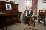 This Nov. 8, 2019 photo shows musician Joe Henry posing for a portrait at his home in Pasadena, Calif. to promote his new album