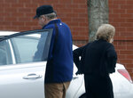 FILE - In this March 19, 2015 file photo, John Hinckley gets into his mother's car in front of a recreation center in Williamsburg, Va. The man who tried to assassinate President Ronald Reagan may soon get the most freedom he's had since since the shooting outside a Washington hotel in 1981.  (AP Photo/ Steve Helber, File)
