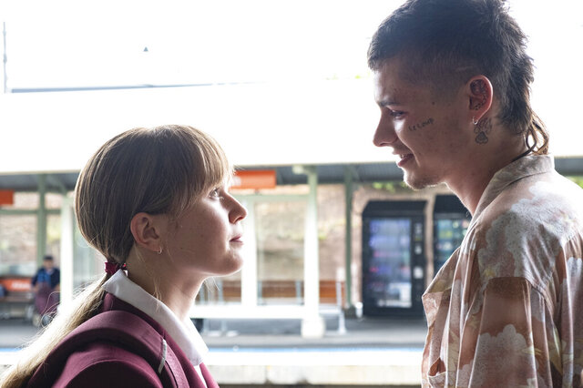 This image released by IFC Films shows Eliza Scanlen, left, and Toby Wallace in a scene from