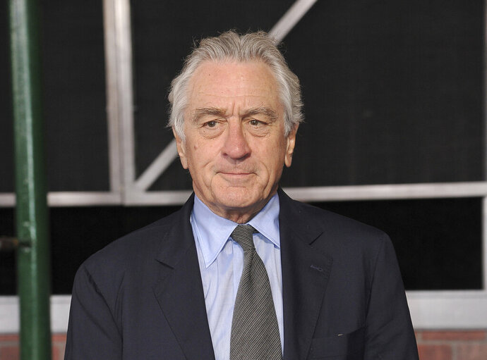 FILE - This Oct. 24, 2019 file photo shows Robert De Niro at the Los Angeles premiere of