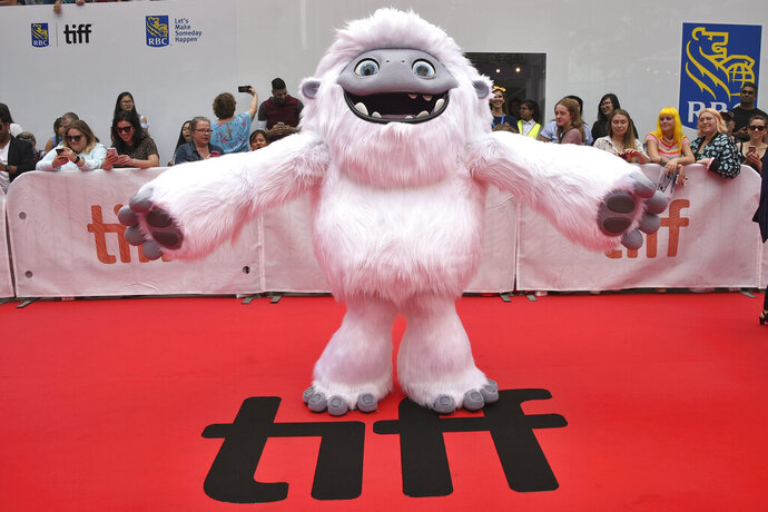 FILE - In this Sept. 7, 2019, file photo, the character Everest from the film
