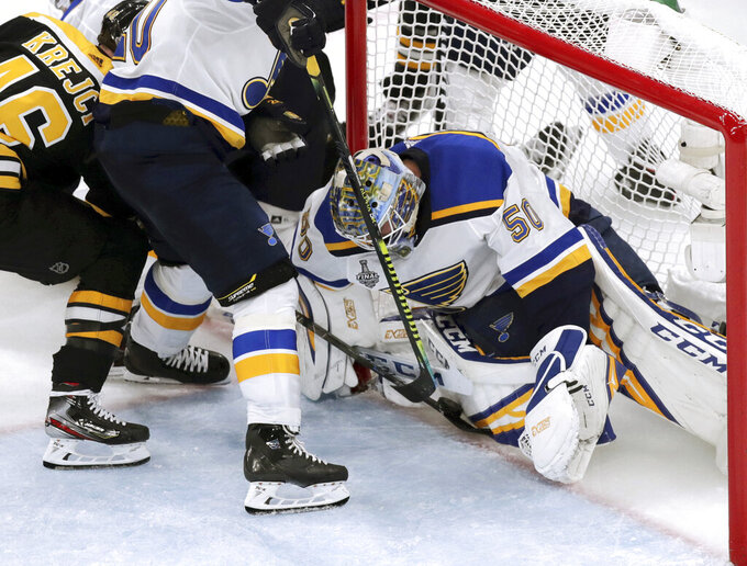 Binnington, Blues beat Bruins 2-1, lead Stanley Cup 3-2