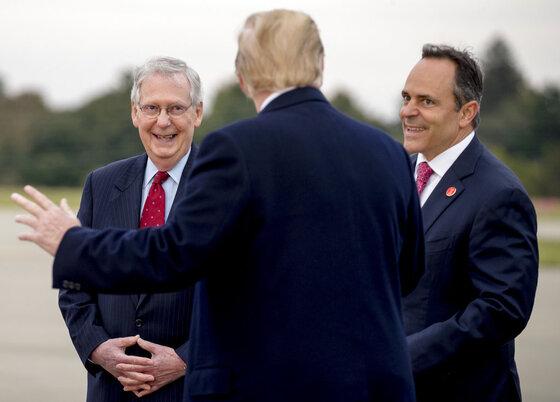 Donald Trump, Mitch McConnell, Matt Bevin