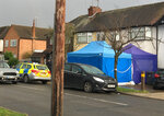 Police activity at a residential address in southwest London, Tuesday March 13, 2018.  According to a police statement Tuesday they are investigating the unexplained death of a man at the address, being named as Russian businessman Nikolai Glushkov, who is associated with a prominent critic of the Kremlin. (AP Photo / Eva Ryan)