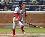 Washington Nationals' Wilmer Difo (1) runs on his eighth-inning, two-run single in a baseball game against the Washington Nationals, Monday, April 16, 2018, in New York. (AP Photo/Kathy Willens)