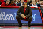 North Carolina State head coach Kevin Keatts watches from the sidelines against Louisville during the second half of an NCAA college basketball game in Raleigh, N.C., Saturday, Feb. 1, 2020. (AP Photo/Karl B DeBlaker)