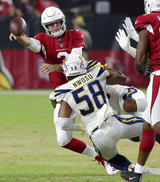 APTOPIX Chargers Cardinals Football