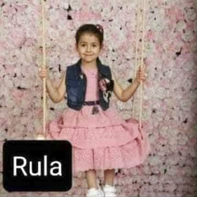 This undated photo provided by Al-Kawlak family of Rula 5, who died in the deadliest airstrike during the 11-day war between Gaza's Hamas rulers and Israel in Gaza Strip. The single deadliest bombing raid of Israel's fourth war with Hamas collapsed two apartment buildings and killed 22 members of the extended al-Kawlak family, including a 6-month-old boy and his 89-year-old great-grandfather. The single deadliest bombing raid of Israel's fourth war with Hamas collapsed two apartment buildings and killed 22 members of the extended al-Kawlak family, including a 6-month-old boy and his 89-year-old great-grandfather. ((Al-Kawlak family via AP)