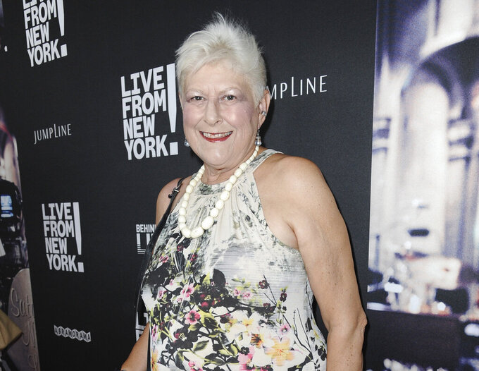 "FILE - Anne Beatts arrives at the premiere of ""Live from New York!"" in Los Angeles on June 10, 2015. Beatts, a groundbreaking comedy writer who was on the original staff of ""Saturday Night Live"" and later created the cult sitcom ""Square Pegs,"" died Wednesday, April 7, at her home in West Hollywood, California, according to her close friend Rona Kennedy. She was 74. (Photo by Richard Shotwell/Invision/AP, File)"