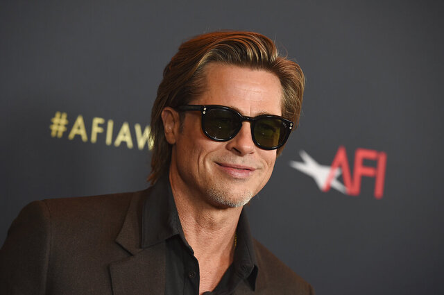 Brad Pitt arrives at the 2020 AFI Awards at the Four Seasons on Friday, Jan. 3, 2020 in Los Angeles. (Photo by Jordan Strauss/Invision/AP)