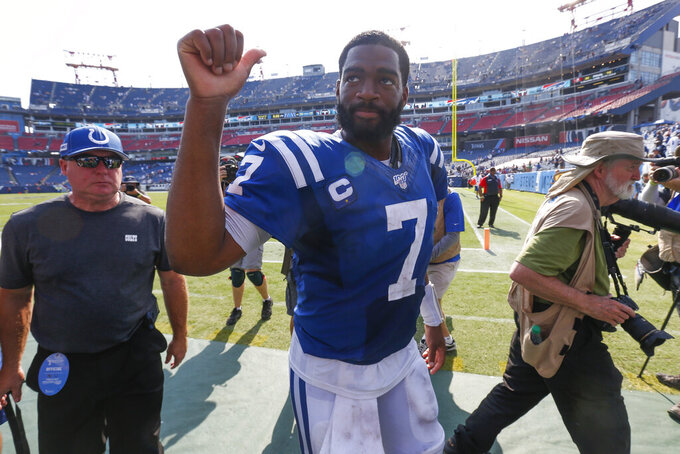Brissett spoils Titans' opener, rallying Colts to 19-17 win