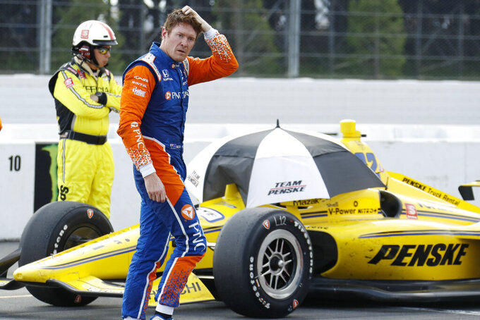Power wins shortened Pocono race marred by wreck, weather