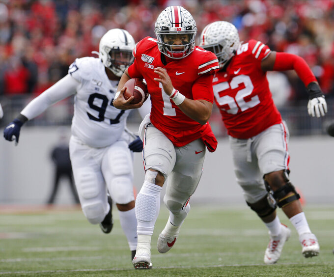 Ohio St jumps LSU to No. 1 in CFP rankings with 2 weeks left