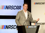 "FILE - In this Jan. 23, 2017, file photo, NASCAR executive Steve O'Donnell speaks at a press conference in Charlotte, N.C. NASCAR is on board _ and on the boards of sportsbooks from Nevada and beyond _ with legalized betting in 2019. ""I wanted to go all in on gambling last year,"" NASCAR executive Steve O'Donnell said. (Jeff Siner/The Charlotte Observer via AP, File)"