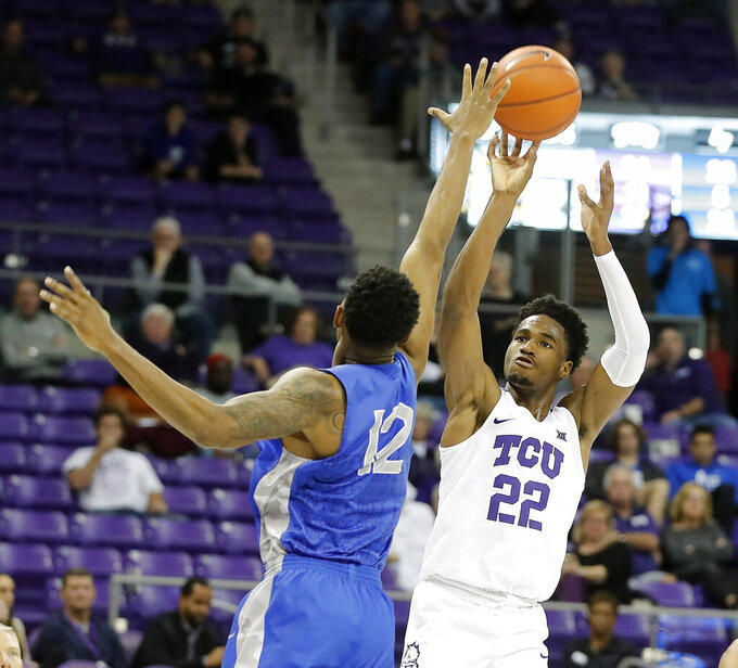 Samuel another TCU double-double in 65-54 win over Air Force