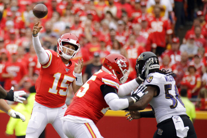 Baltimore Ravens at Kansas City Chiefs 9/22/2019