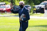 President Joe Biden walks to board Marine One on the Ellipse near the White House for a trip to Delaware, Wednesday, June 2, 2021, in Washington. (AP Photo/Evan Vucci)