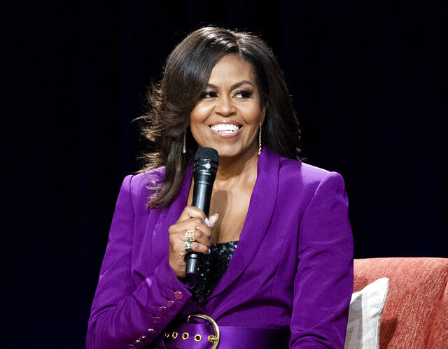FILE - This May 11, 2019 file photo shows former first lady Michelle Obama during