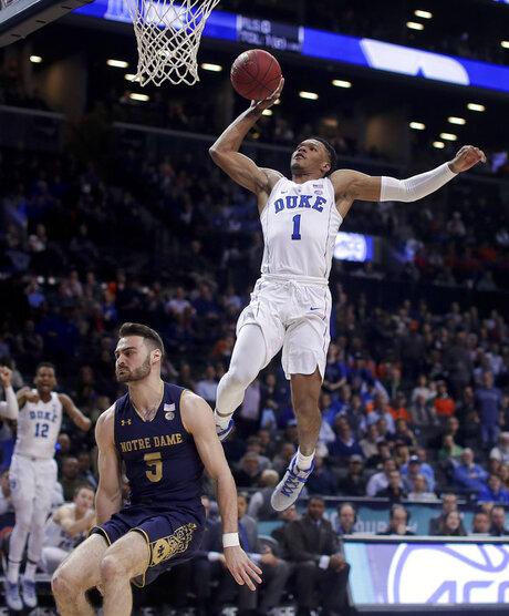 APTOPIX ACC Notre Dame Duke Basketball