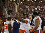 Clemson's Trayvon Mullen celebrates after the NCAA college football playoff championship game against Alabama, Monday, Jan. 7, 2019, in Santa Clara, Calif. Clemson beat Alabama 44-16. (AP Photo/Chris Carlson)
