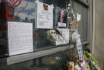 REMOVES REFERENCE TO HOMELESS KILLED  - A makeshift memorial stands at the site where Chuen Kok called home and where he was killed Friday Oct. 18, 2019, in New York.  Kok, an 83-year-old homeless man whom Chinatown residents warmly greeted as