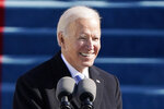President Joe Biden speaks during the 59th Presidential Inauguration at the U.S. Capitol in Washington, Wednesday, Jan. 20, 2021.(AP Photo/Patrick Semansky, Pool)