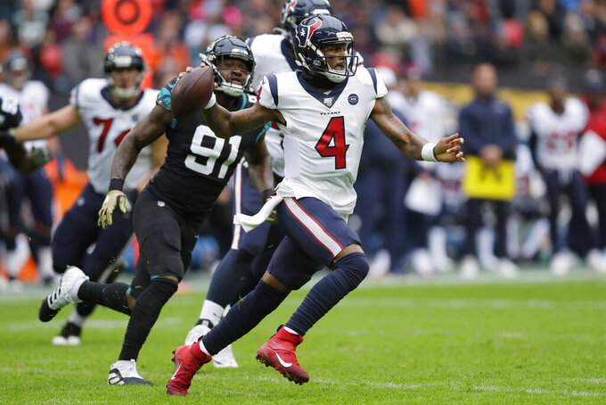 No looking back: Watson on point as Texans top Jags 26-3