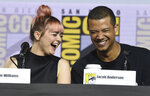 Maisie Williams, left, and Jacob Anderson appear during the