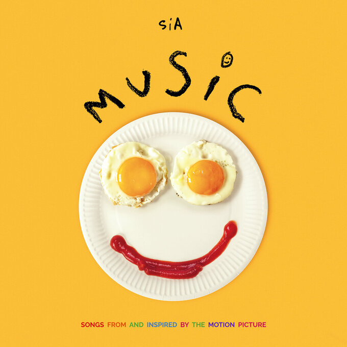 "This cover image released by Monkey Puzzle/Atlantic shows ""Music"" by Sia. (Monkey Puzzle/Atlantic via AP)"