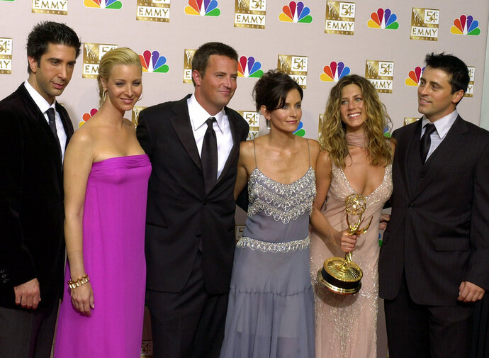 FILE - In this Sunday, Sept. 22, 2002 file photo, the stars of