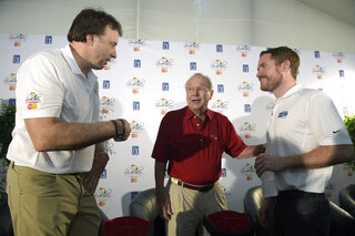 Kevin Nealon, Arnold Palmer, Brian Vickers
