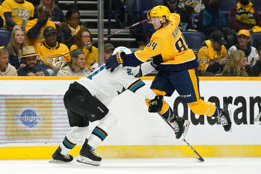 Sharks Predators Hockey